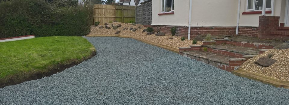 After driveway and landscaping in Bideford