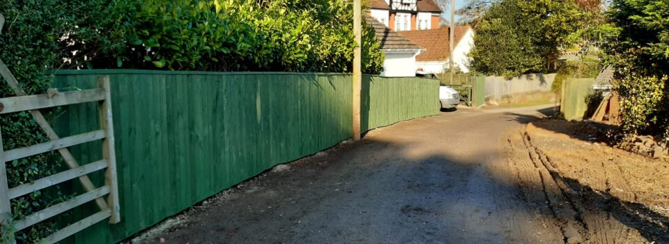 Before and after close board fencing at Cheverall Care Home Bideford (3)